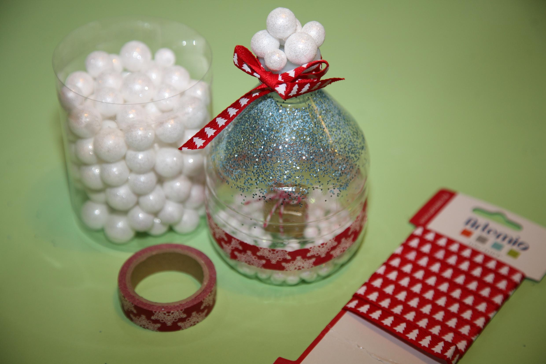 termin diy r aliser une boule de neige de no l. Black Bedroom Furniture Sets. Home Design Ideas